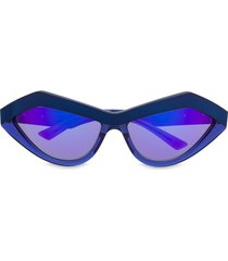bottega veneta eyewear teardrop-frame sunglasses - blue