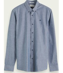 scotch & soda chambray overhemd | regular fit