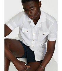 only & sons onsandrew ss reg waffle solid shirt skjortor vit