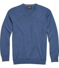 jos. a. bank traveler men's slate blue modern fit merino sweater - size: 4xlt