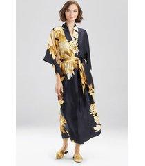 natori opulent robe, women's, black, size s natori