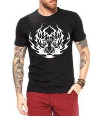 camiseta criativa urbana tigre tribal
