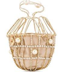 rosantica ginestra cage clutch - gold