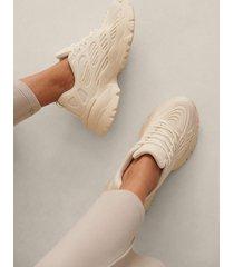 na-kd shoes chunky träningsskor med gummi - offwhite