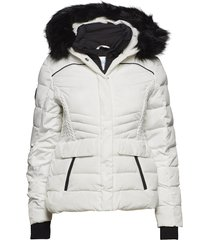glacier biker jacket gevoerd jack wit superdry