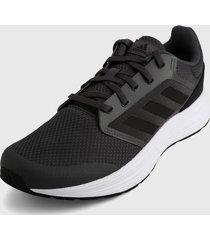 tenis running gris-negro-blanco adidas performance galaxy 5