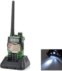 """baofeng uv-5ra lcd de 1,5"""" de doble banda 5w 128-ch walkie talkie de camuflaje (exportación)"""