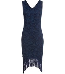 abito con perle e frange (blu) - bodyflirt boutique
