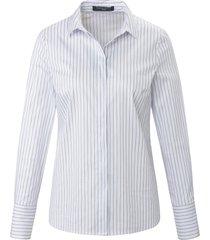 blouse overhemdkraag en geweven strepen van fadenmeister berlin wit