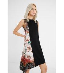 flared asymmetric dress - black - xs