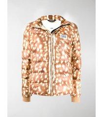 burberry deer print puffer jacket