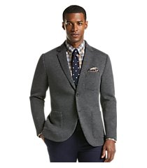 1905 collection tailored fit heathered knit casual jacket - big & tall