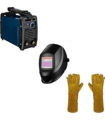 inversor 110/220v+350f careta inteligente+guante soldador