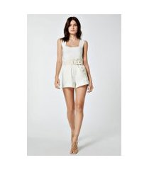 short de algodão clochard off white - 42