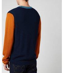 ps paul smith men's crewneck sweatshirt - blue - s