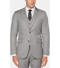 perry ellis men's slim-fit herringbone suit jacket