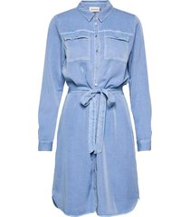 dhcosmo shirtdress dresses shirt dresses blå denim hunter
