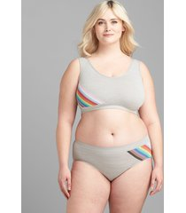 lane bryant women's level 1 smoother hipster panty 12 love stripes