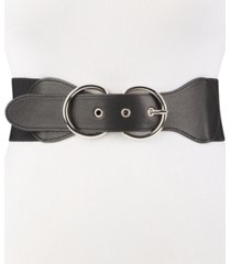 steve madden double-ring-buckle stretch belt