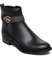 abigail flat bootie shoes boots ankle boots ankle boot - flat svart michael kors shoes