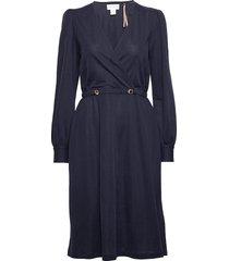 dress millie knälång klänning blå lindex