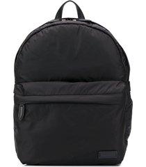 salvatore ferragamo lightweight padded backpack - black