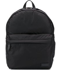 salvatore ferragamo lightweight padded backpack - black