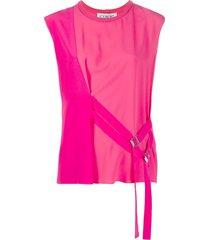 iceberg double belt sleeveless blouse - pink