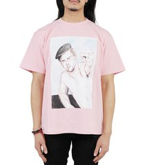 jw anderson pink face t-shirt