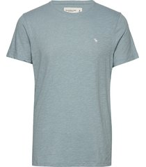icon crew color t-shirts short-sleeved blå abercrombie & fitch