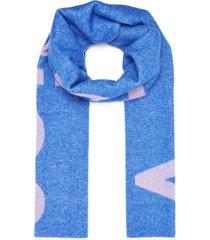 logo wool blend scarf