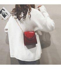 tracolla donna casual chic con tracolla borsa in vernice borsa