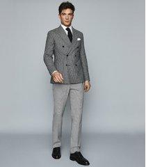 reiss remote slim - cotton satin slim fit shirt in white, mens, size xxl