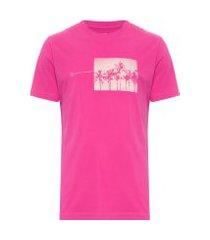 t-shirt masculina regular coqueiros - rosa