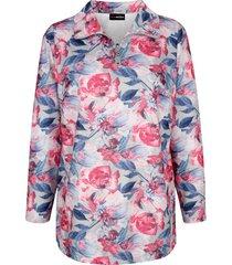 sweatshirt m. collection grijs::multicolor