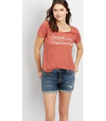 silver jeans co.® womens suki fray cuff 4in shorts blue denim - maurices