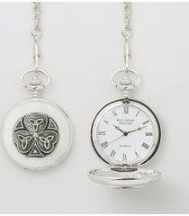 personalized mullingar pewter shamrock trinity watch