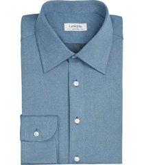 camicia da uomo su misura, canclini, jeans azzurra, quattro stagioni