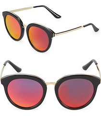 mirrored 54mm oval sunglasses