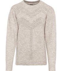 maglione traforato (beige) - bodyflirt