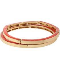 kenneth cole new york gold-tone marble stretch bangle bracelet set