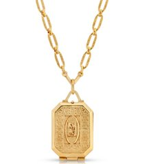 2028 maria antoinette square locket necklace