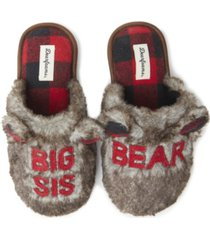 women's furry auntie bear scuff matching family slippers