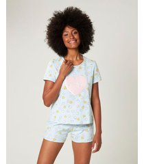 pijama lovely malwee liberta verde claro - g