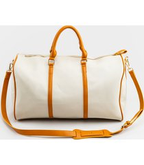 women's delaney weekender tote in brown by francesca's - size: one size