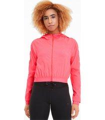 be bold gebreid trainingsjack voor dames, roze, maat l | puma
