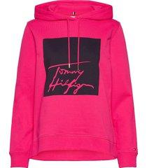 alissa hoodie ls hoodie trui roze tommy hilfiger
