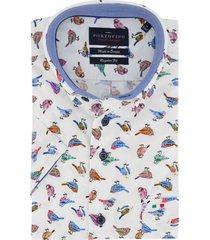 overhemd portofino korte mouwen vogelprint