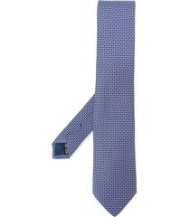 salvatore ferragamo designer stylised tie - blue