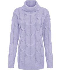 maglione a trecce (viola) - bodyflirt